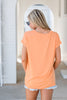 Feeling Lovely Piko Top, Tangerine