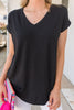 Feeling Lovely Piko Top, Black