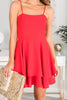 Fluttering Fun Dress, Red