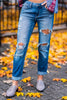 Go Anywhere Boyfriend Jeans, Medium Wash