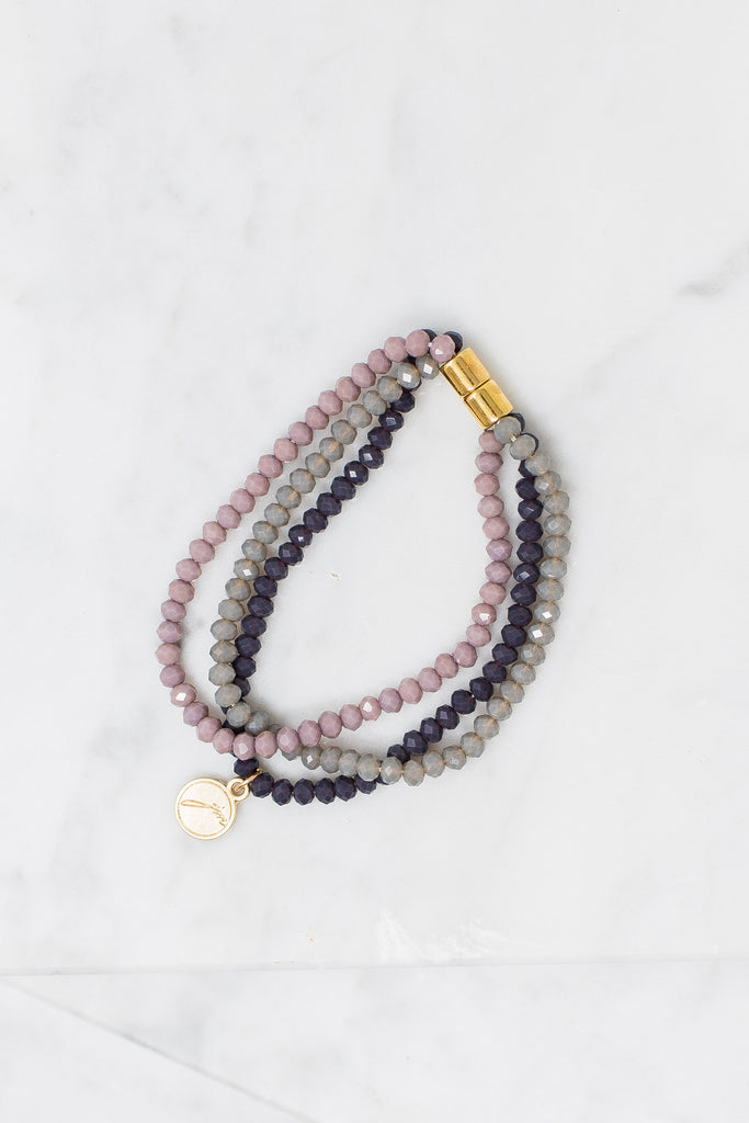 Go With You Anywhere Bracelet, Purple-Multi