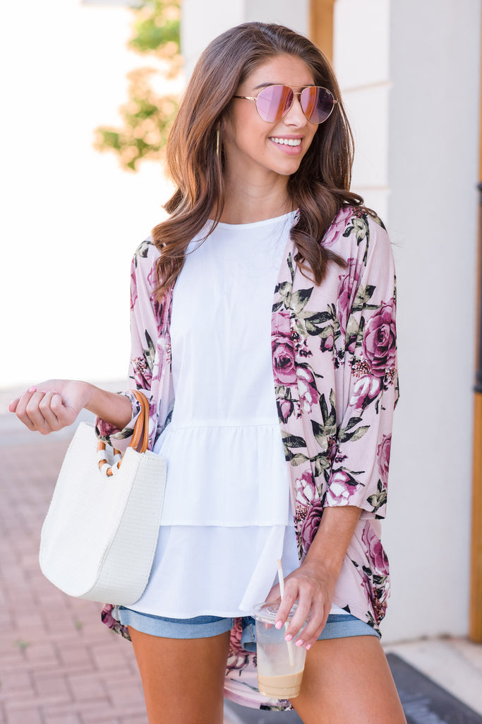 Here For The Best Kimono, Mauve
