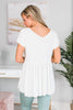 Here To Impress Ivory White Babydoll Top