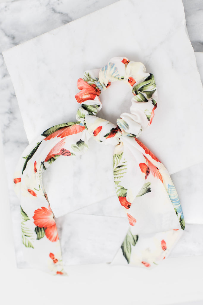 Just The Sweetest Scunchy Scarf, White
