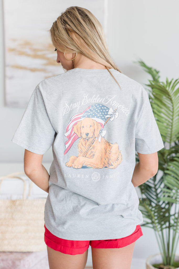 Lauren James: 4th Of July T-shirt, Gray