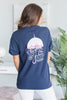 Lauren James: Seersucker In The Rain T-Shirt, Estate Blue