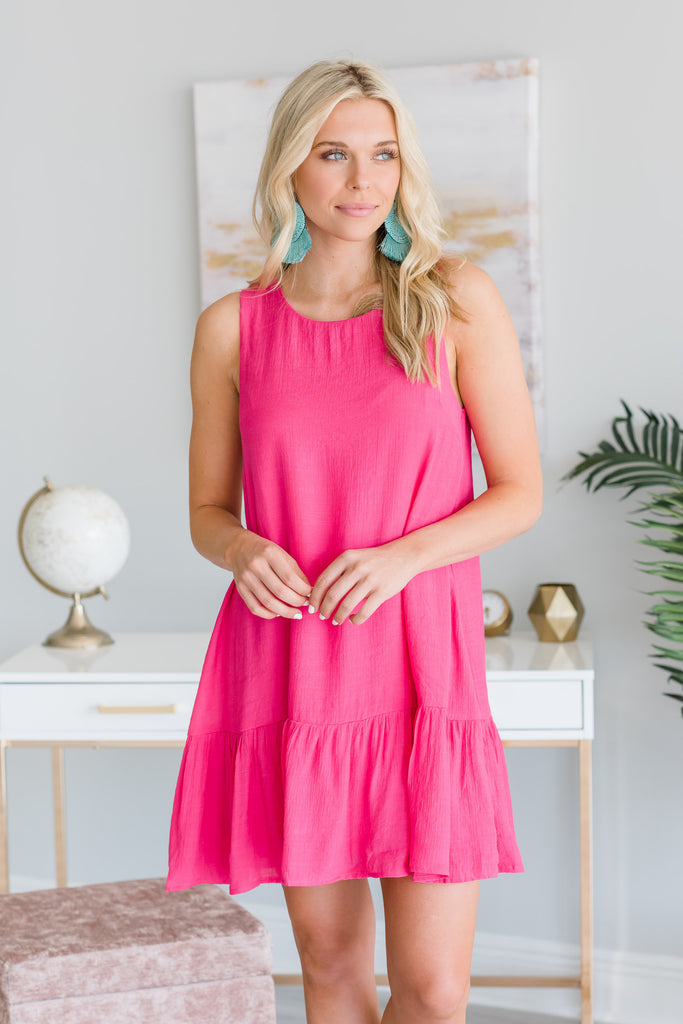 Let's Get Festive Dress, Hot Pink