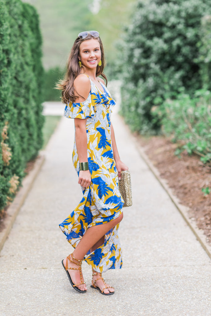 Listen To The Waves Maxi Dress, Mustard