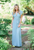 Living The Dream Aqua Blue Ruffled Maxi Dress