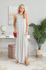 Loved You All Along Maxi Dress, Ivory-Black