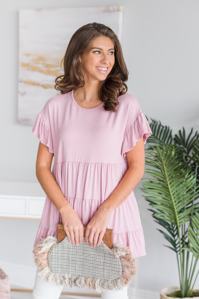 Make It Lovely Top, Dusty Pink