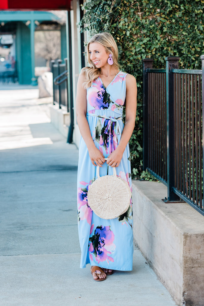 Make Your Own Choices Maxi Dress, Blue