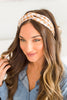 More Than Love Tan Gingham Headband