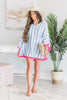 Mud Pie: Brandi Tassel Poncho, Blue