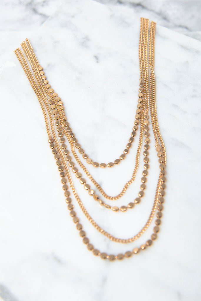 All The Love Gold Layered Necklace