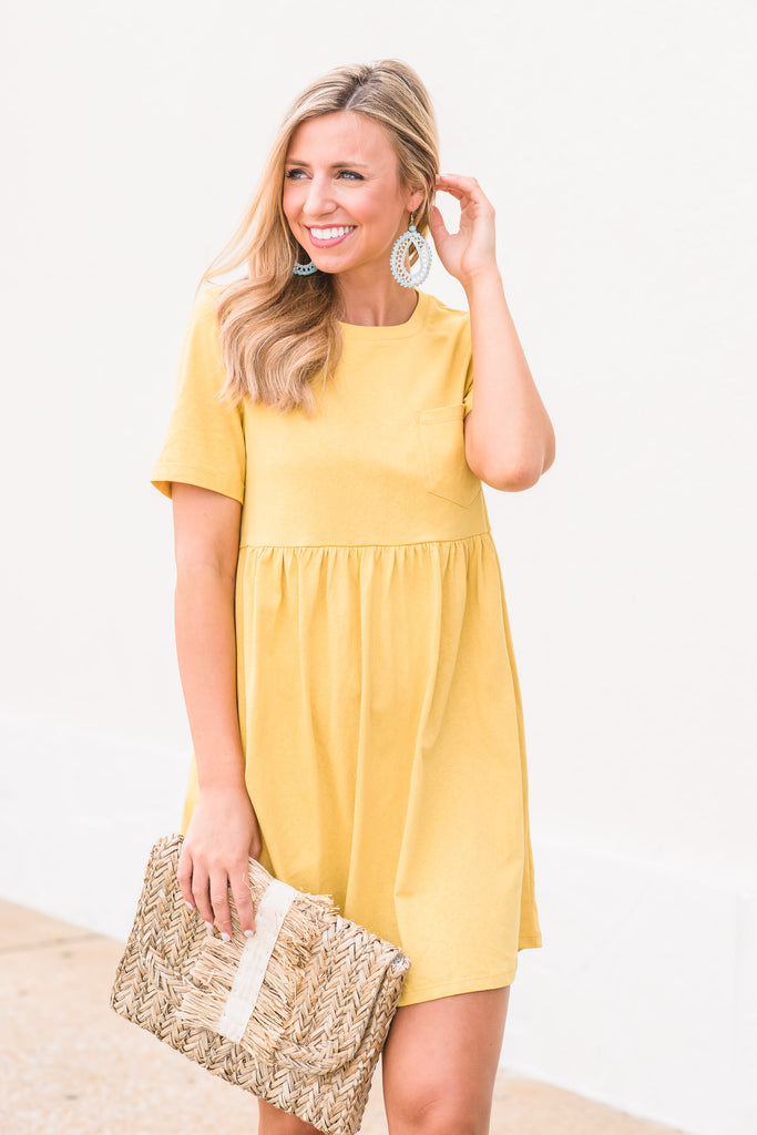 Obsessed With Fun Dress, Yellow