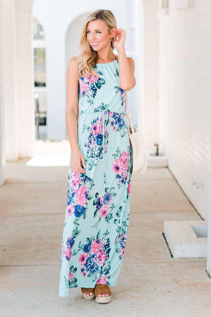 Off In The Distance Maxi Dress, Mint