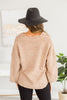 Open Your Heart Mocha Brown Distressed Sweater