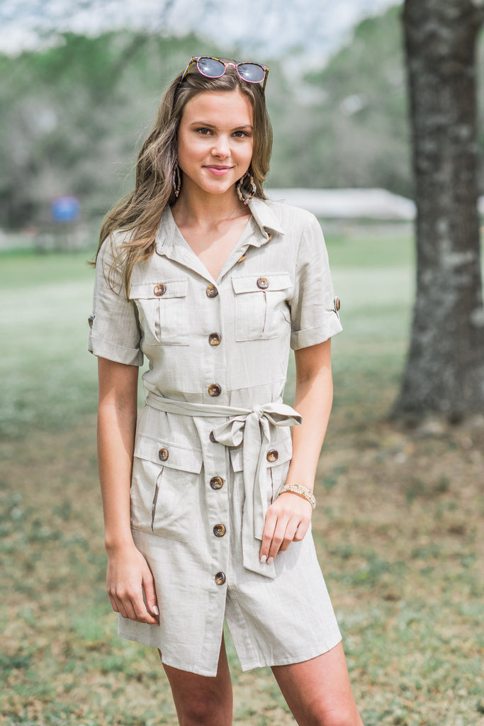 Out For Adventures Dress, Khaki