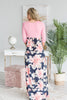 Peaceful Paradise Maxi Dress, Coral