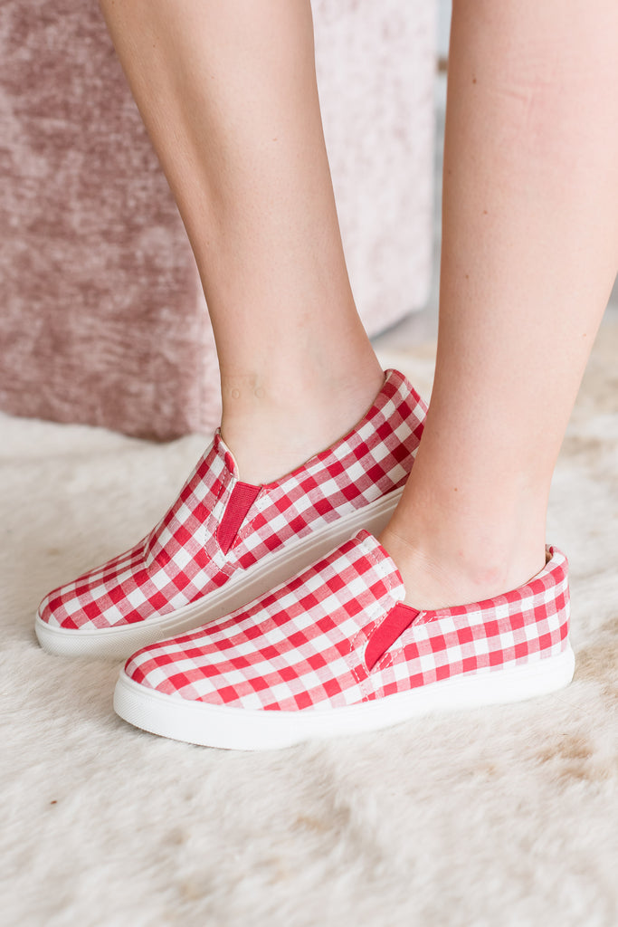 Picnic Party Red Gingham Sneakers
