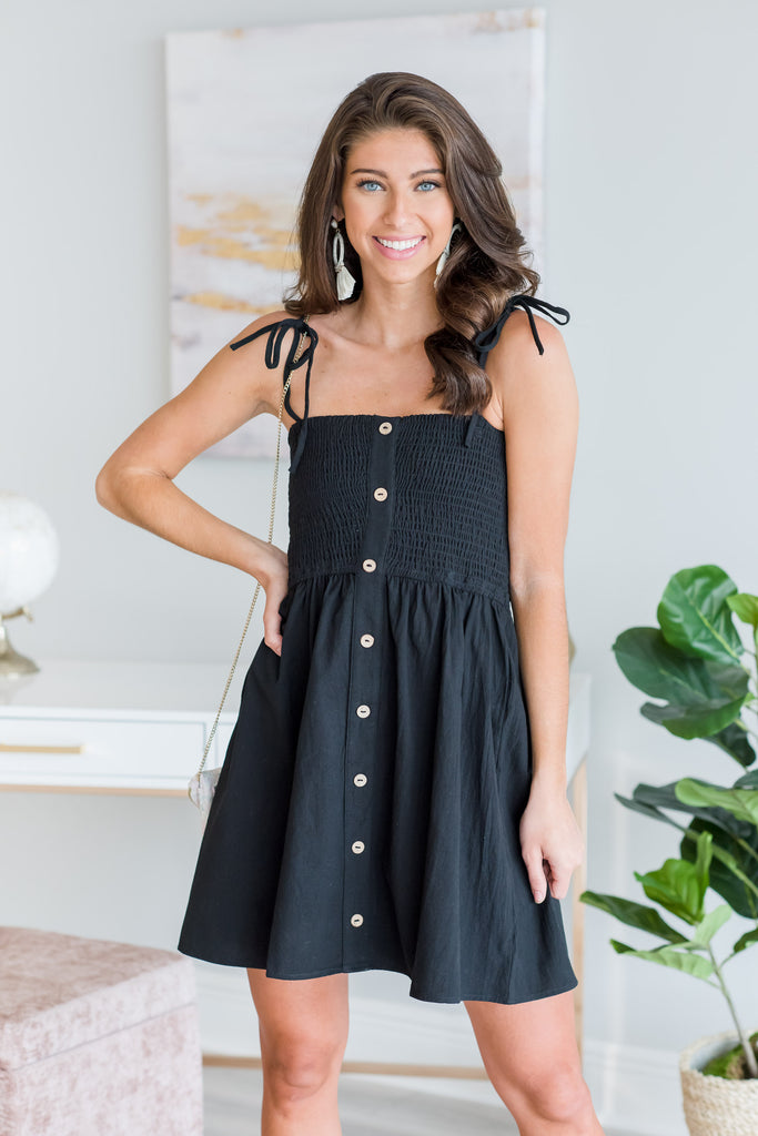 Run Through The Fields Dress, Black