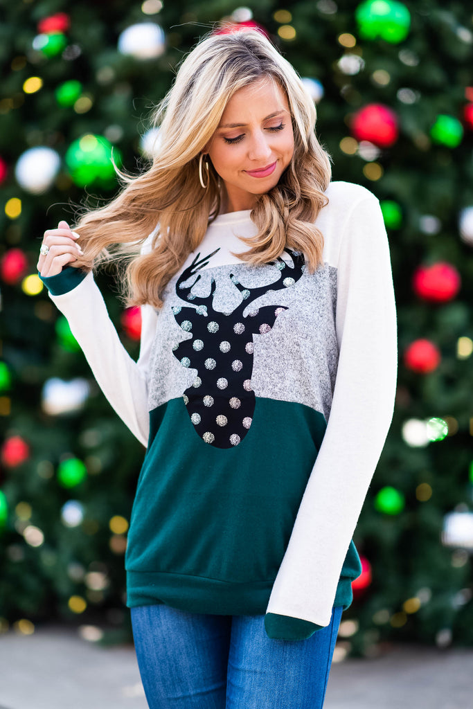 Fun To Be Festive Sweater, Olive