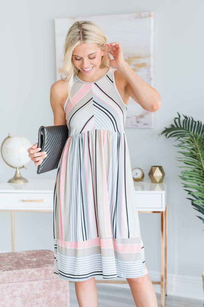 Save The Day Midi Dress, Pink