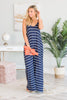 Show You Off Navy Blue Striped Maxi Dress