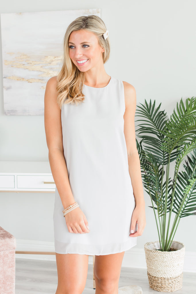 Spot On Shift Dress, Silver