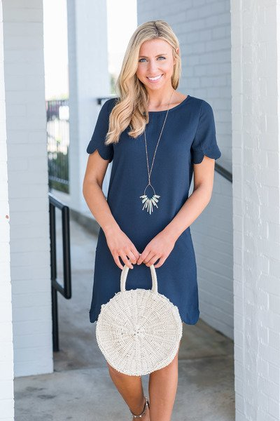 Stay On Track Dress, Navy