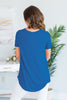 Still The One Sapphire Blue Short Sleeve Top