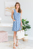 Take You There Dress, Blue-Multi