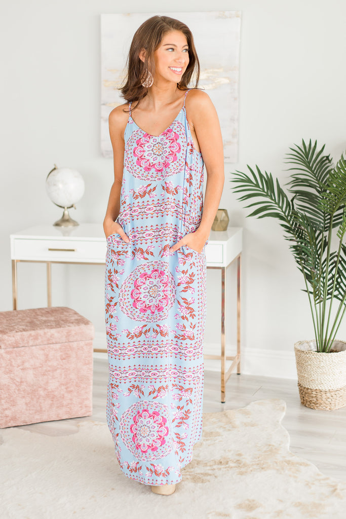 Tell The Story Maxi Dress, Blue