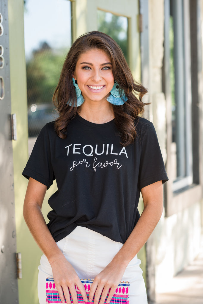 Tequila Por Favor Tee, Black