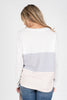 The Center Of Happiness Top, Off White-Multi