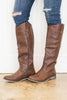 boots, brown, neutral, zipper, casual, leather