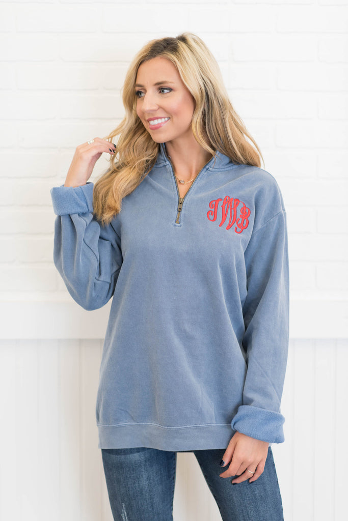 Comfort Colors: The Warm Up Pullover, Blue Jean