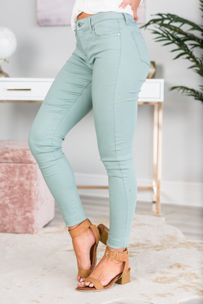 The Way You Move Jeggings, Green
