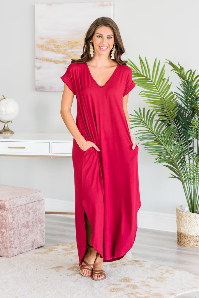 This Is No Dream Maxi Dress, Ruby
