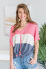 This Is No Trick Top, Navy-Peach