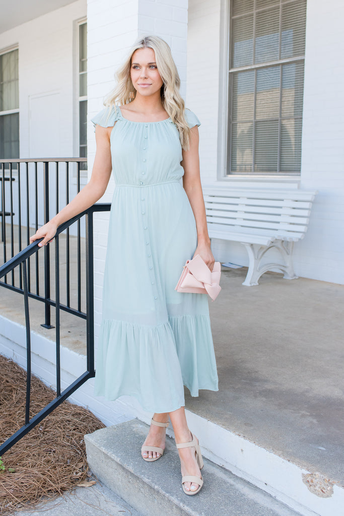 This Is The Life Maxi Dress, Sea Foam