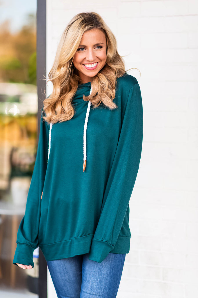 Tied Up In Love Sweatshirt, Hunter Green