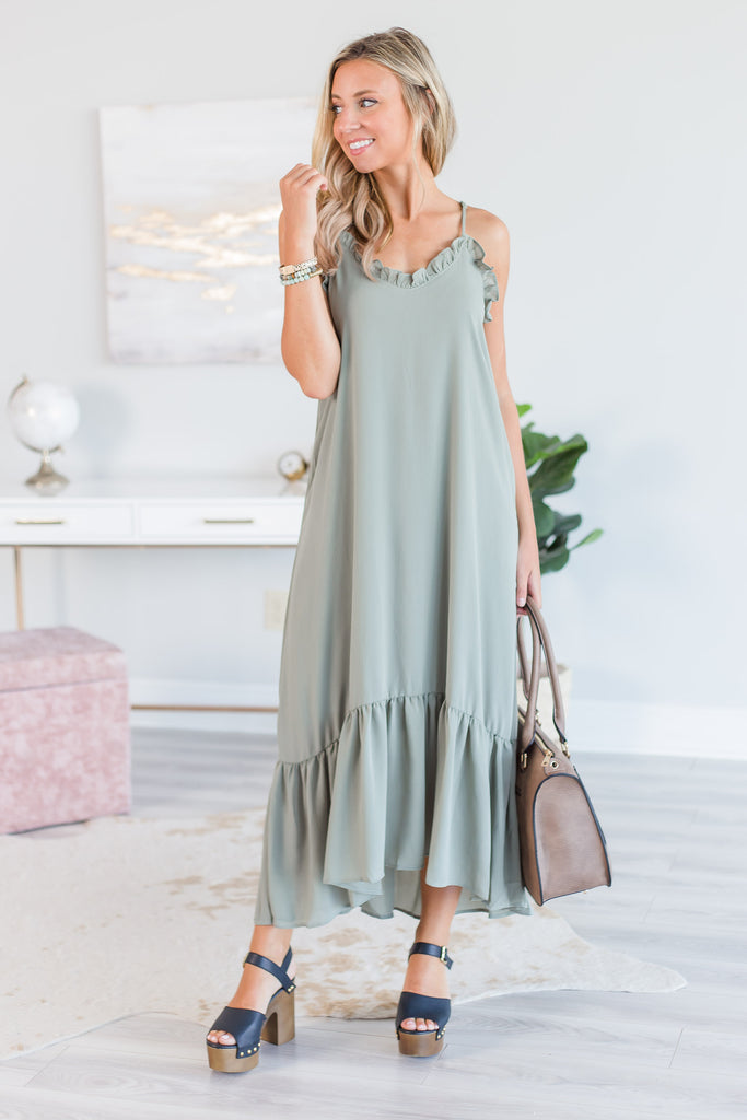 What A Feeling Maxi Dress, Olive
