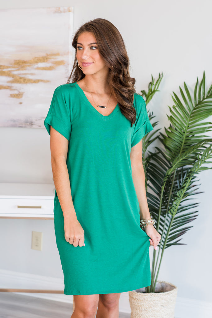 Wishing For Fun Dress, Forest Green