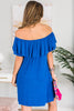Wish You Were Here Dress, Cobalt