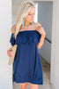 Wish You Were Here Dress, Navy