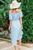 With You Always Midi Dress, Light Blue
