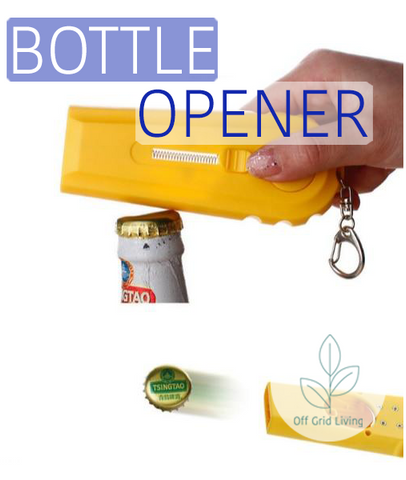 Flying Cap Zappa - Bottle Opener - Off Grid Living for Beginners