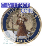 St. Christopher Patron Saint Of Travelers Challenge Coin - Off Grid Living for Beginners